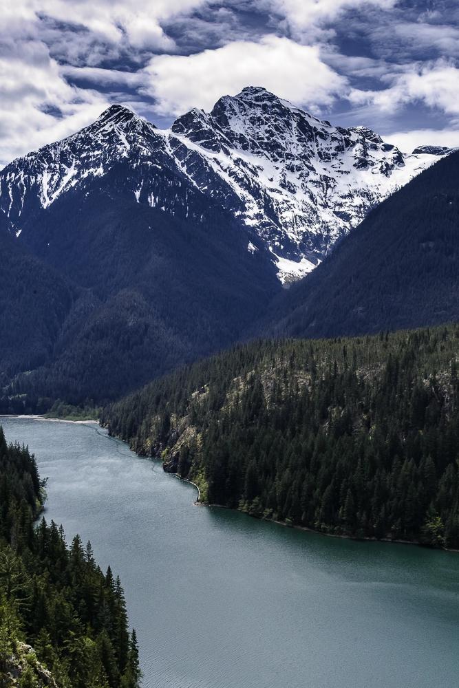 Diablo Lake from N. Cascades Highway, WA