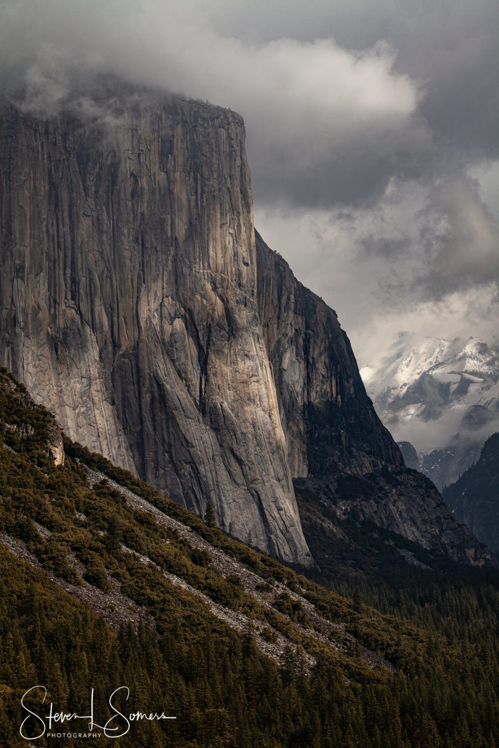 El Capitan on a Moody Day