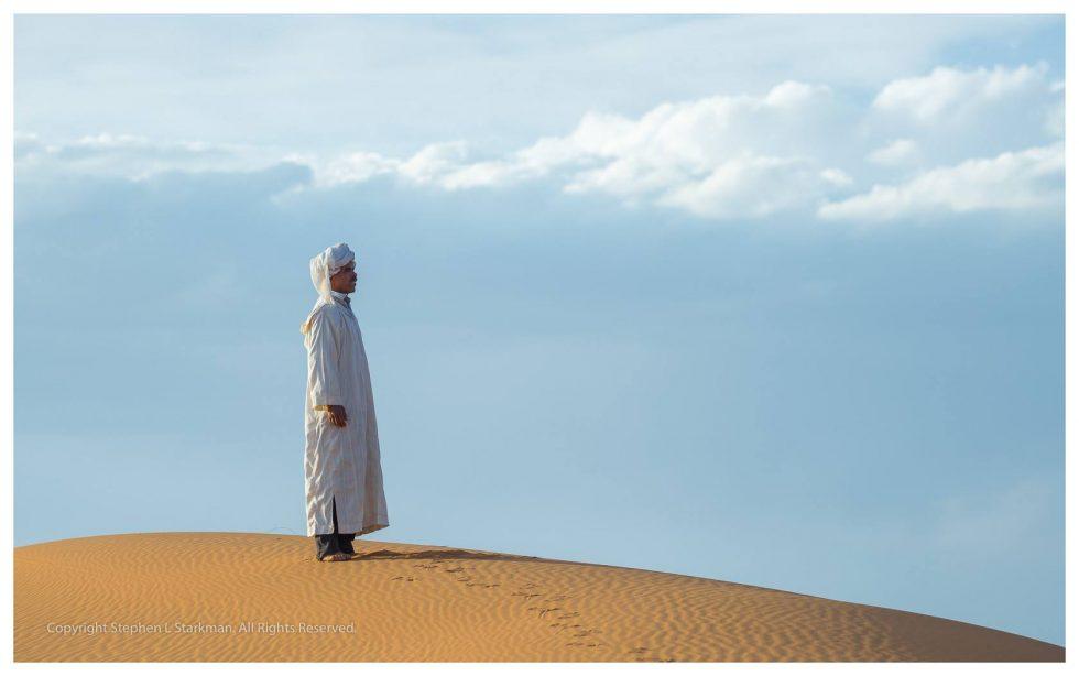 Evening prayers, Sahara desert, Morocco