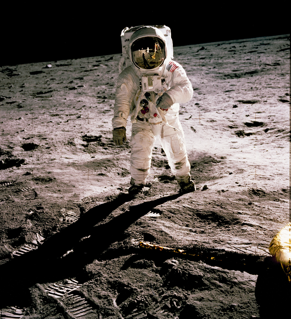 Astronaut Buzz Aldrin on the lunar surface © NASA