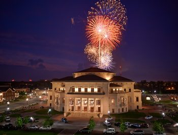 Fireworks at the Performing Arts Center in Carmel, IN