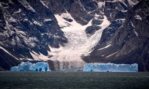 Glaciers and bergs