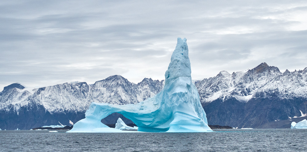 Zodiac Cruising among icebergs