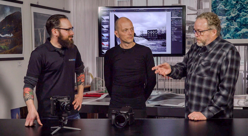 Drew Altdoerffer and Lau Norgaard discuss the Phase One IQ4 Camera system with Kevin Raber
