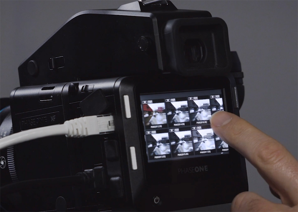 The whole menu system and camera controls are touch operated