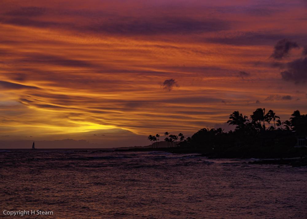 """Red Sky at Night…."", Kauai, HI"