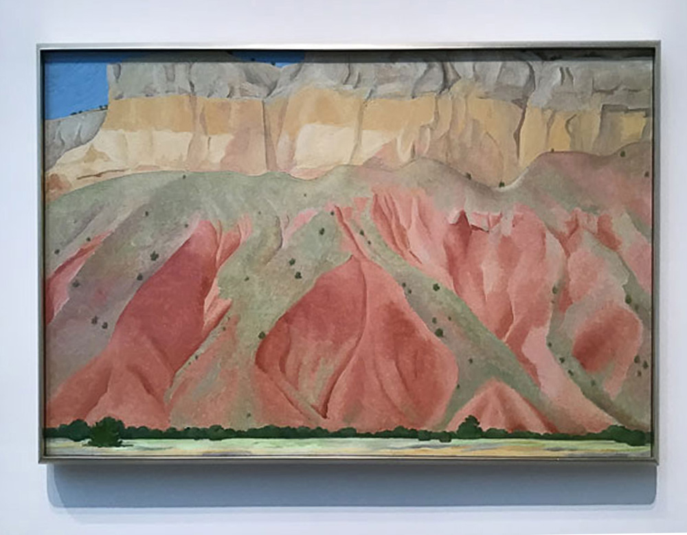 Red and Yellow Cliffs - Georgia O'Keeffe