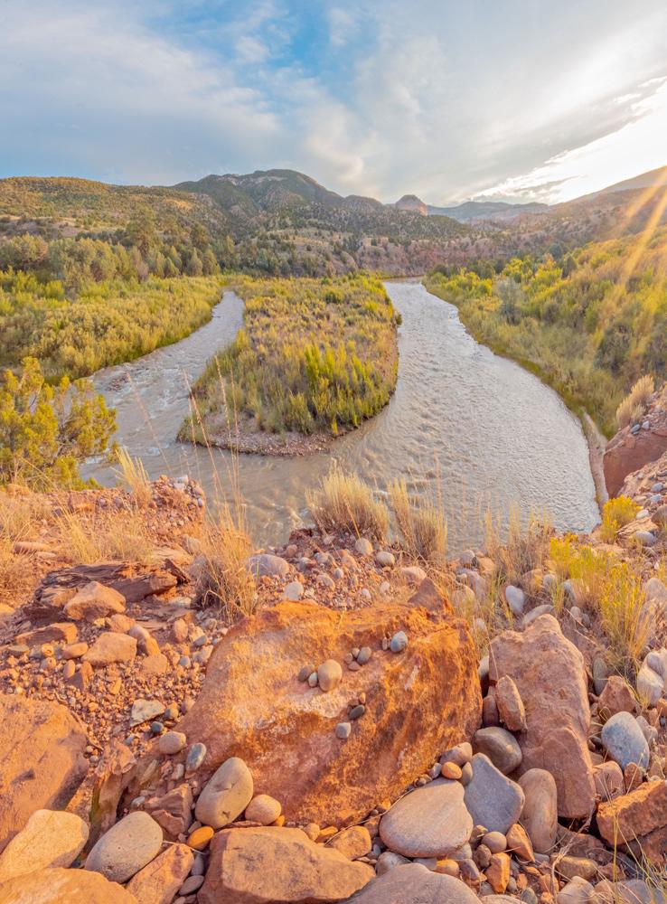 Chama River at Sunset -Alain Briot