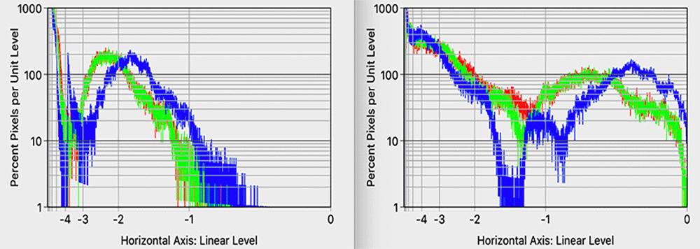 Figure 4: Linear level histograms.