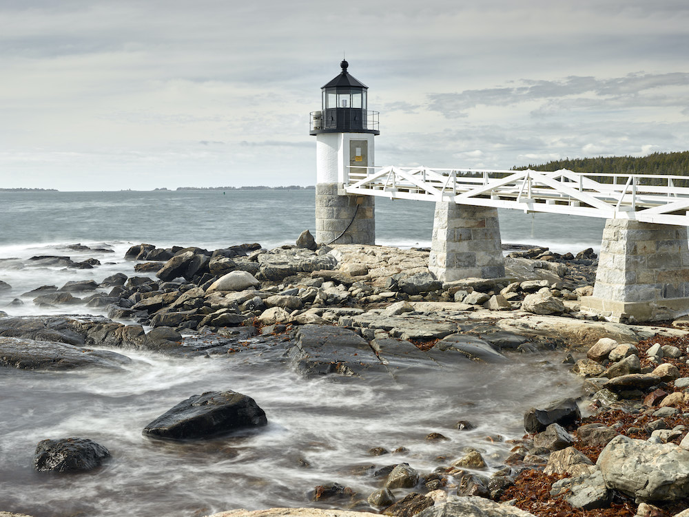 Marshall Point Lighthouse is photogenic at any time of day