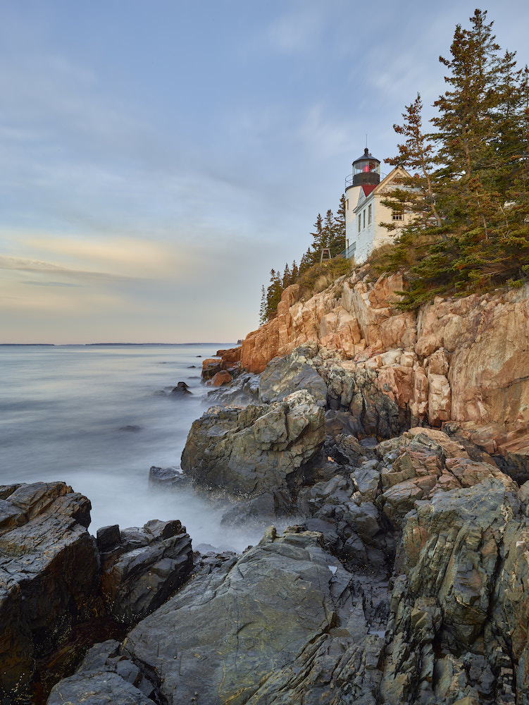 Bass Harbor Head Lighthouse in Acadia National Park at Sunrise