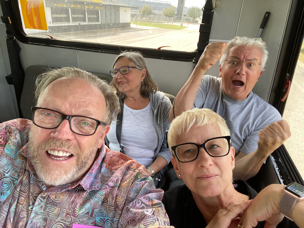 Selfie fun while on the bus.