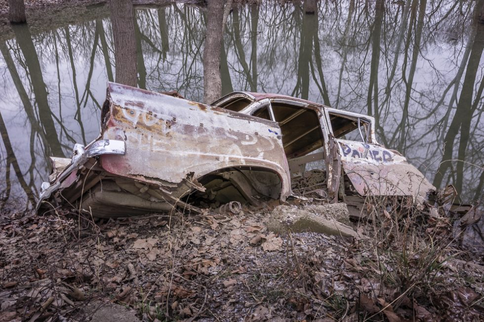 Sinking Old Car