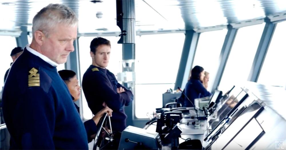 On the bridge of the Magellan Explorer