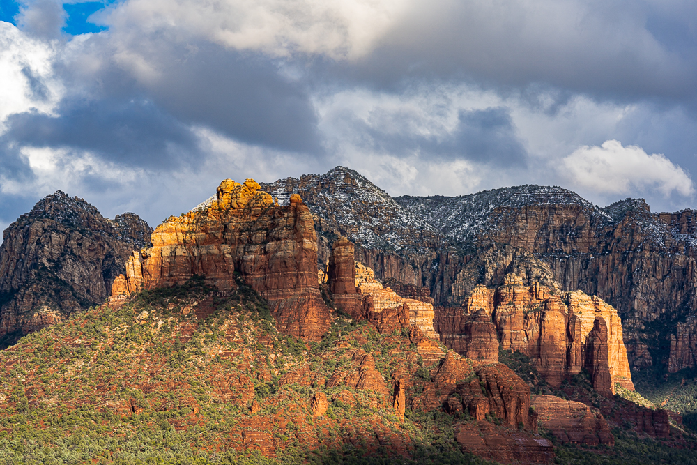"""""""Crimson Cliffs From My House"""", Voigtlander 110mm f2.5 on A7r M4"""