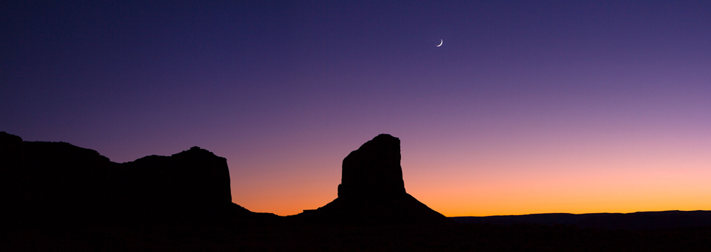 Monument Valley Moonset