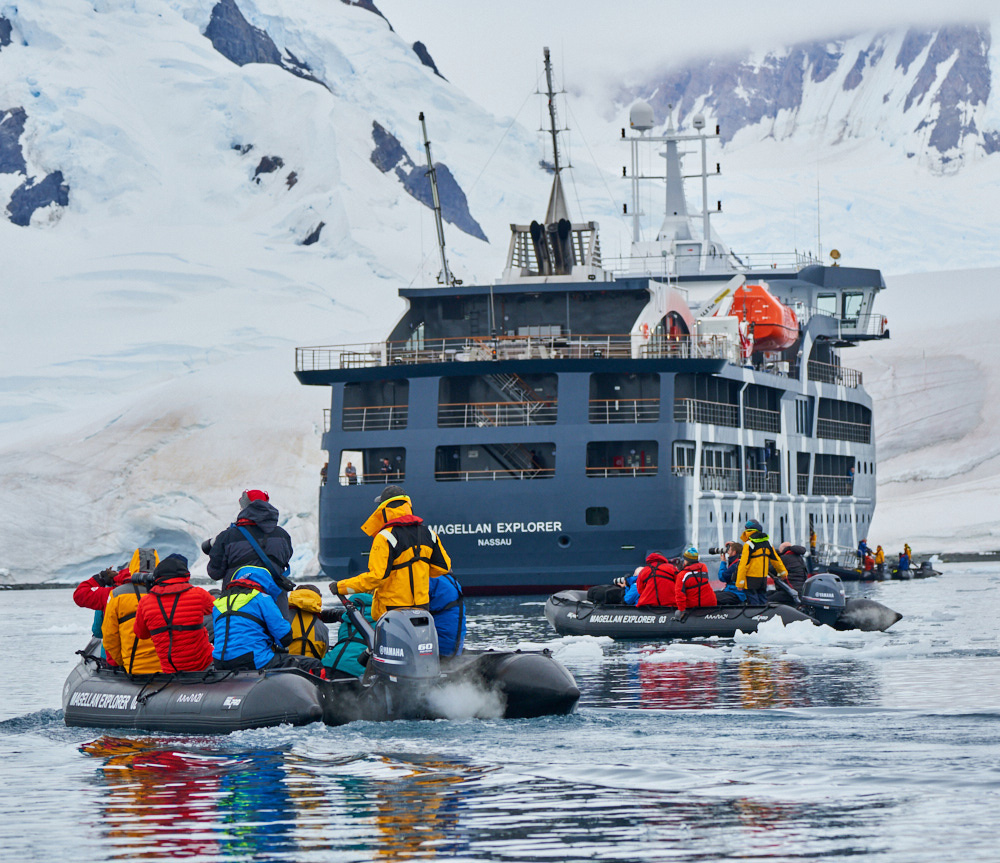 The Magellan Explorer by Antarctica 21 in full deployment mode