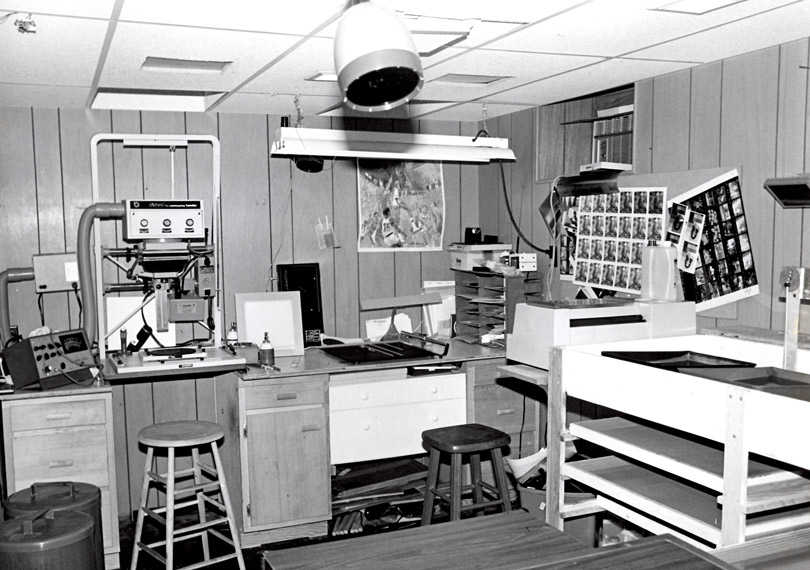 My first color darkroom in 1975