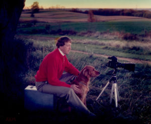 An old portrait of me with my RZ67 system and my Golden Retriever - priceless
