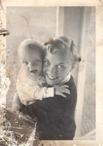 My Mom and Me as a baby. If it wasn't for this print I would not have this. I don't know where the negative is and in todays world 60 years from now could I find this file?