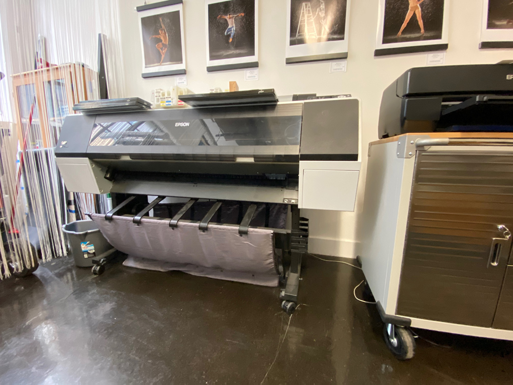 The Epson 9900 printer which can print to 44 inches wide
