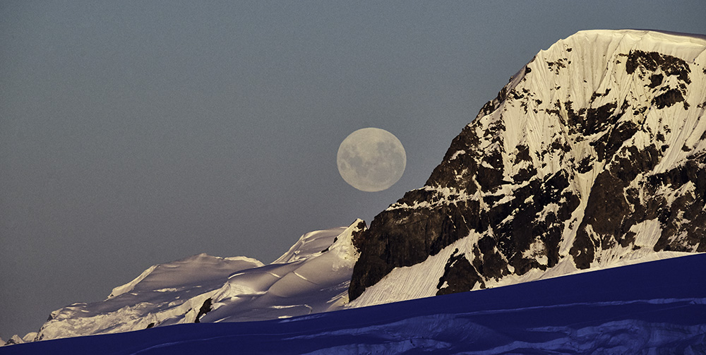 Antarctica Moonrise