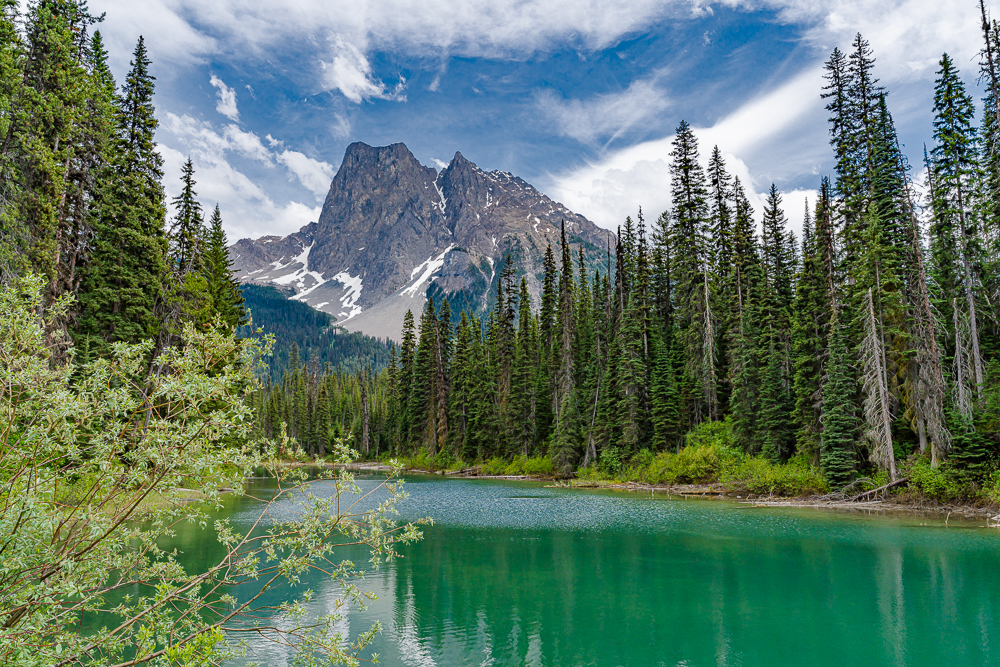 """Mt. Burgess from Emerald Lake, Yoho NP, BC,"" in color"