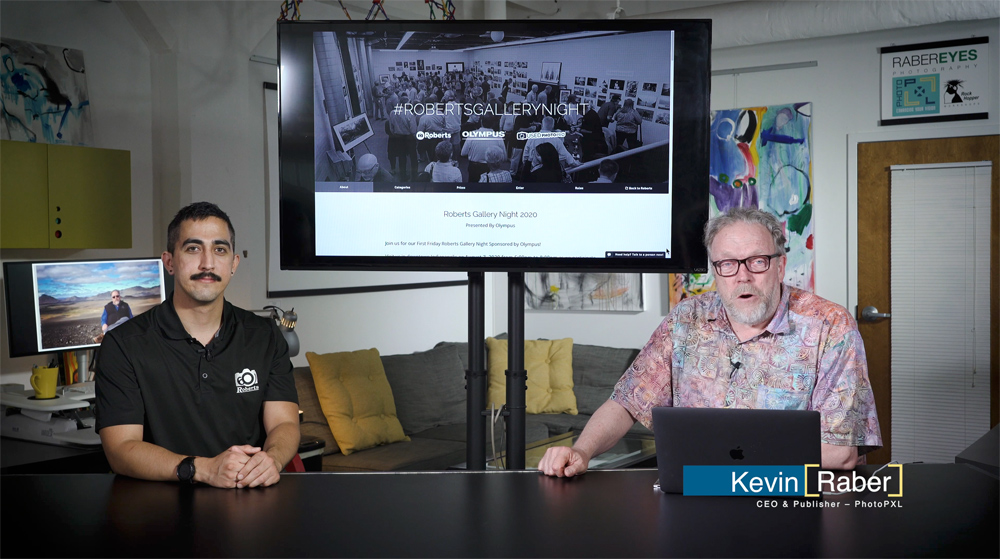Jaun Flores and Kevin Raber host the Roberts Gallery Night virtual presentation