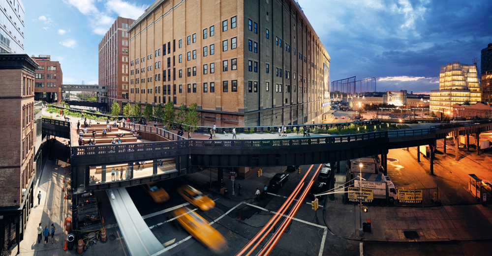Stephen's first of the Day To Night series was an assignment to shoot The High Line, which is a 1.45 mile elevated linear park, greenway, and rail trail created on a former New York Central Railroad spur on the west side of Manhattan.