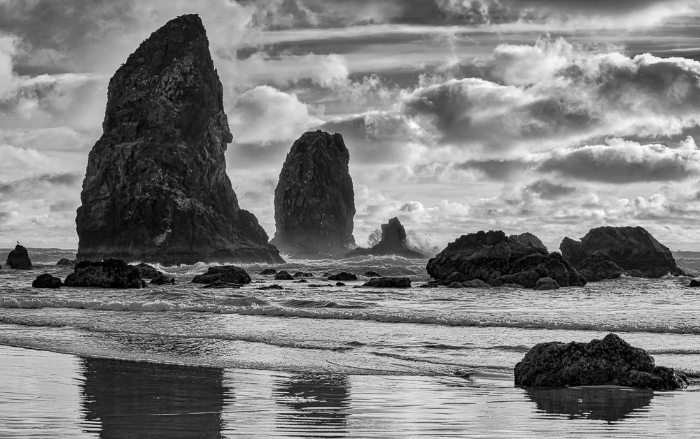 Sea-stacks at Bandon Beach Oregon
