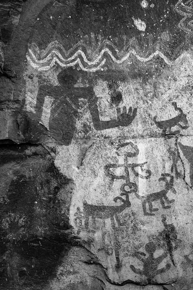 Native American Pictograms near Palatki in Sedona