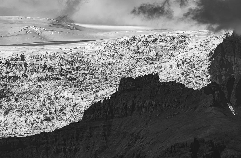 Skaftafellsjokull (glacier) & Vatnajokull (Ice Cap) from lava ridge