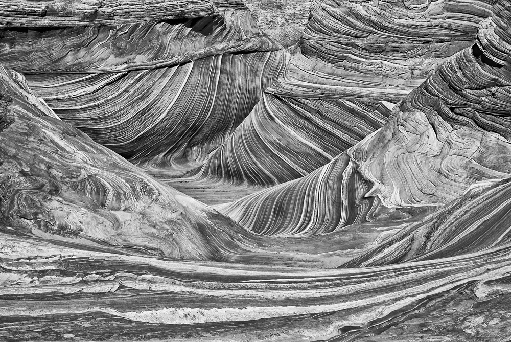 """Barry Guthertz (USA) Inside The Wave from the series """"Paria Canyon-Vermilion Cliffs Wilderness""""After a 3 mile hike into the desert you come upon a draw dropping sandstone formation that has been carved by millions of years of wind and rain erosion. http://www.barryguthertz.com/"""