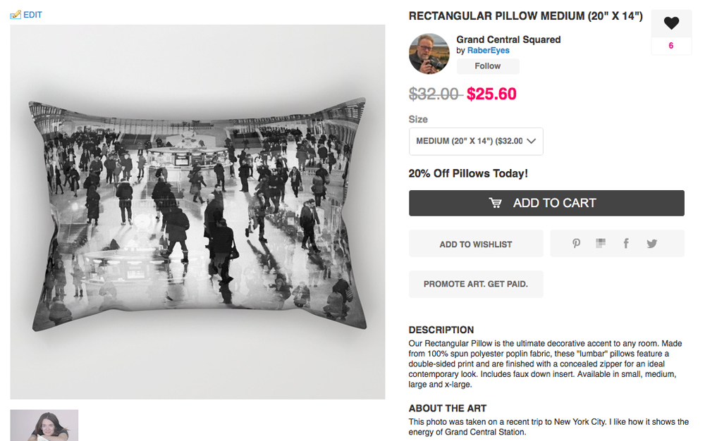 Our pillow. Notice it is on sale right now. You can choose size also.