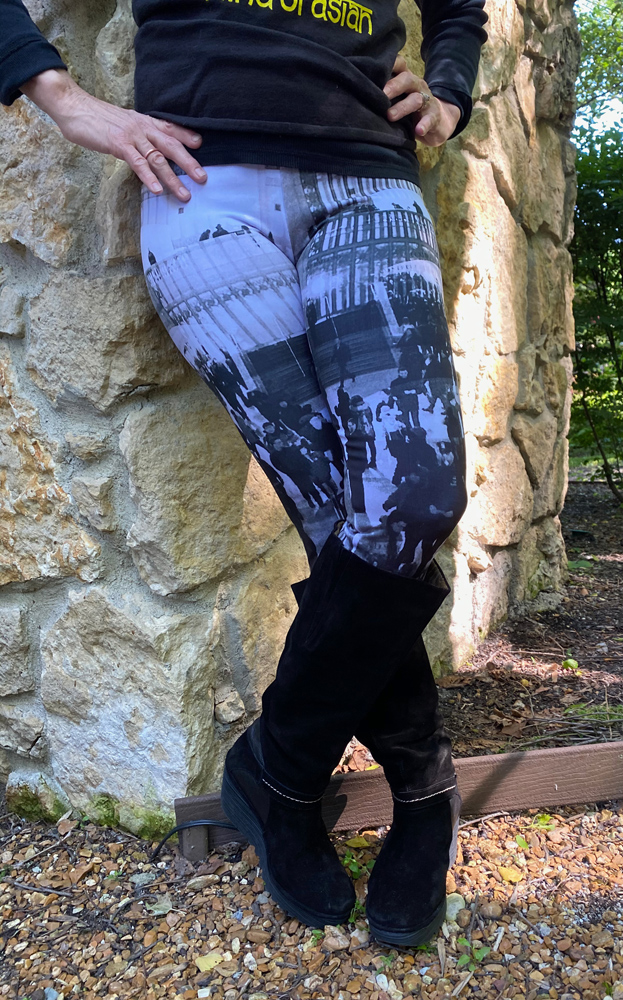Leggings with an Image of Grand Central Station