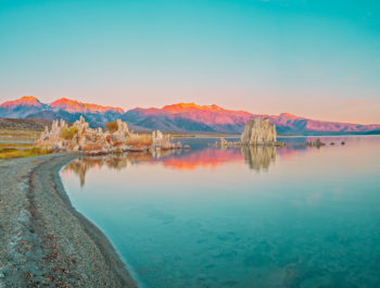 Mono Lake with Green Sky