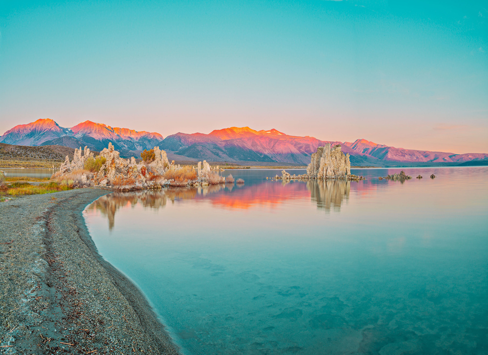 Mono Lake with Green Sky