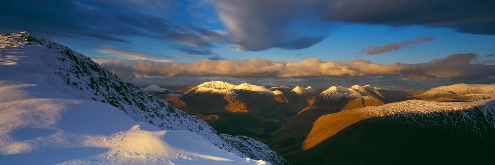 Bidean nam Bian, Buachaille Etive Mor and Sron na Creise from Ben Starav, Glen Etive, Scotland
