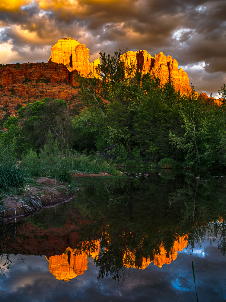 Cathedral Rock at Sunset from Oak Creek