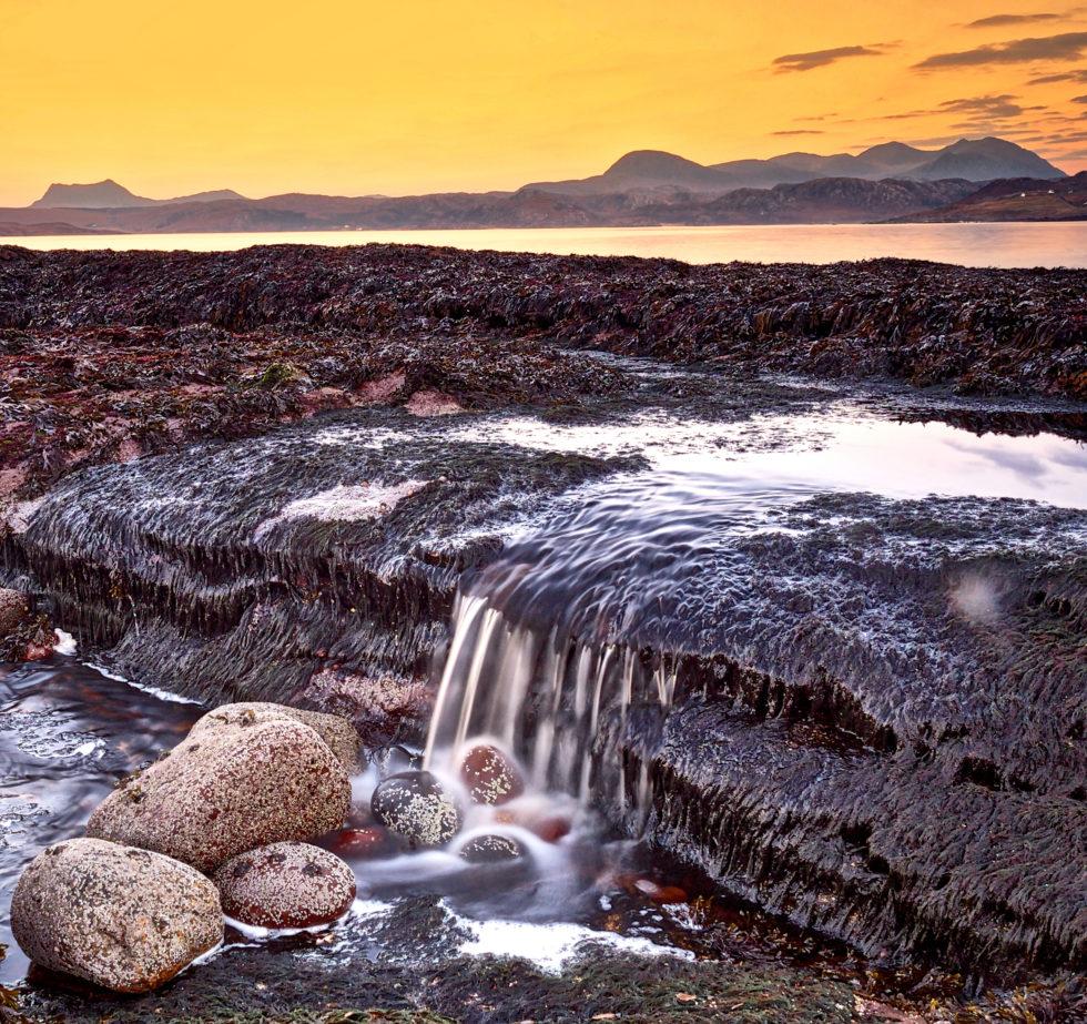 Laide beach sunrise. Wester Ross. Scotland.