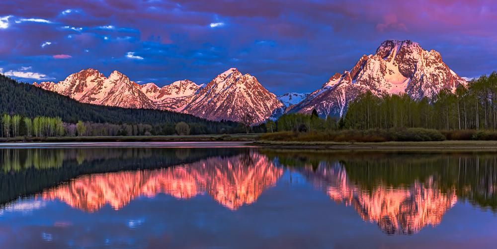 Teton Sunrise from the Oxbow, Grand Teton NP, WY, 2016
