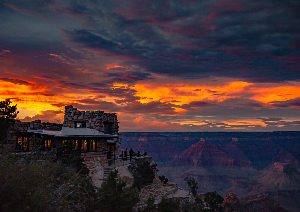 Grand Canyon Sunset from Lookout Studio