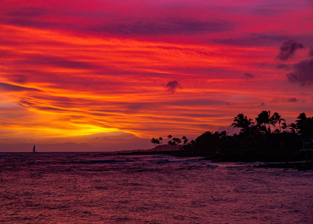 Red Sky at Night, Kauai, HI