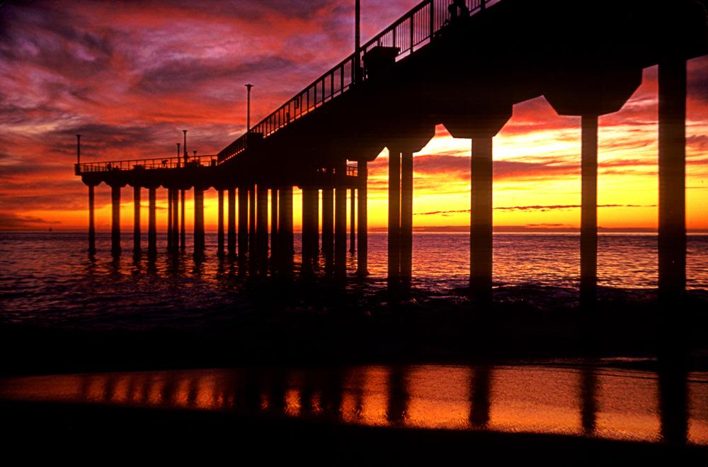 Aliso Beach, CA, 1982, on Kodachrome