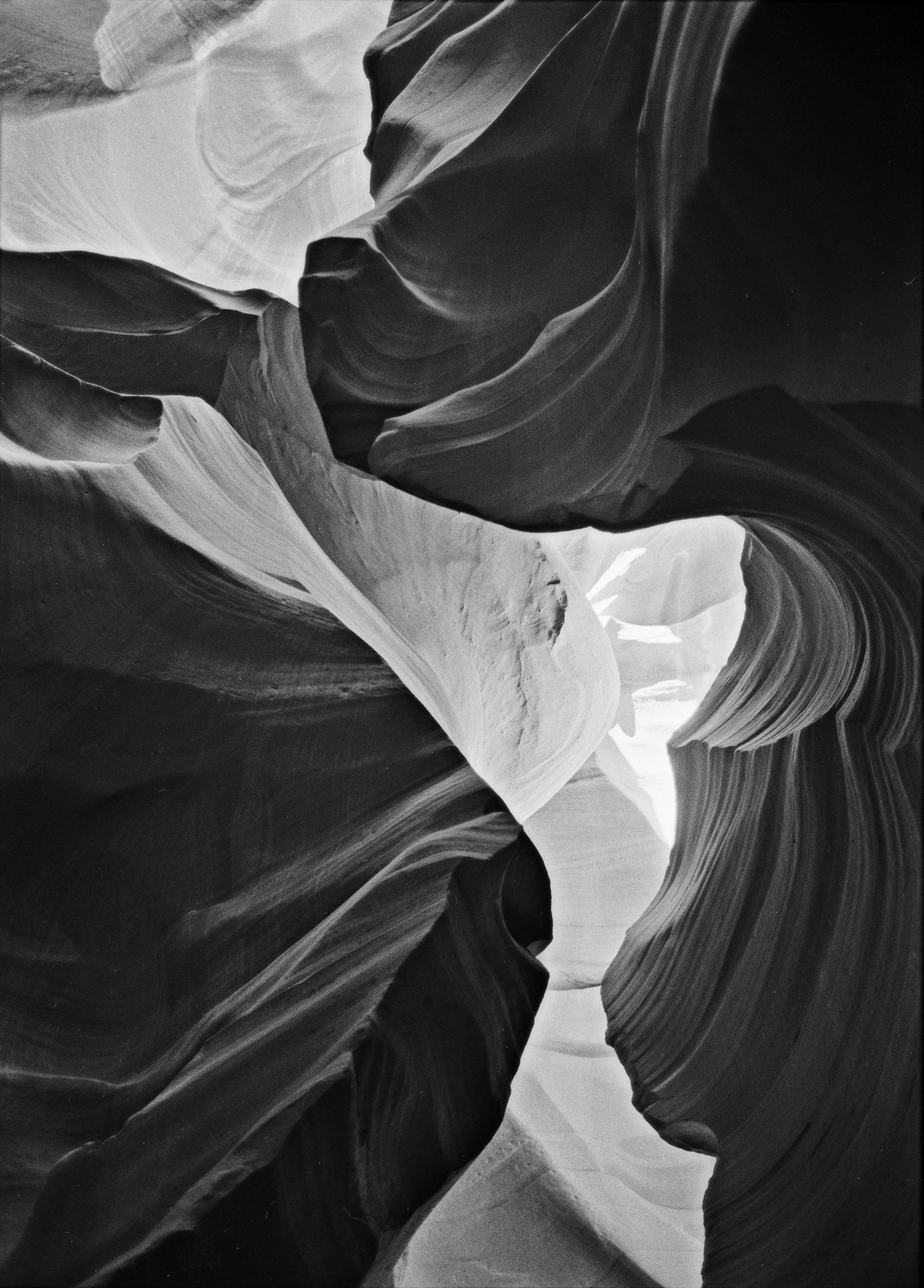 The first photograph of Lower Antelope Canyon