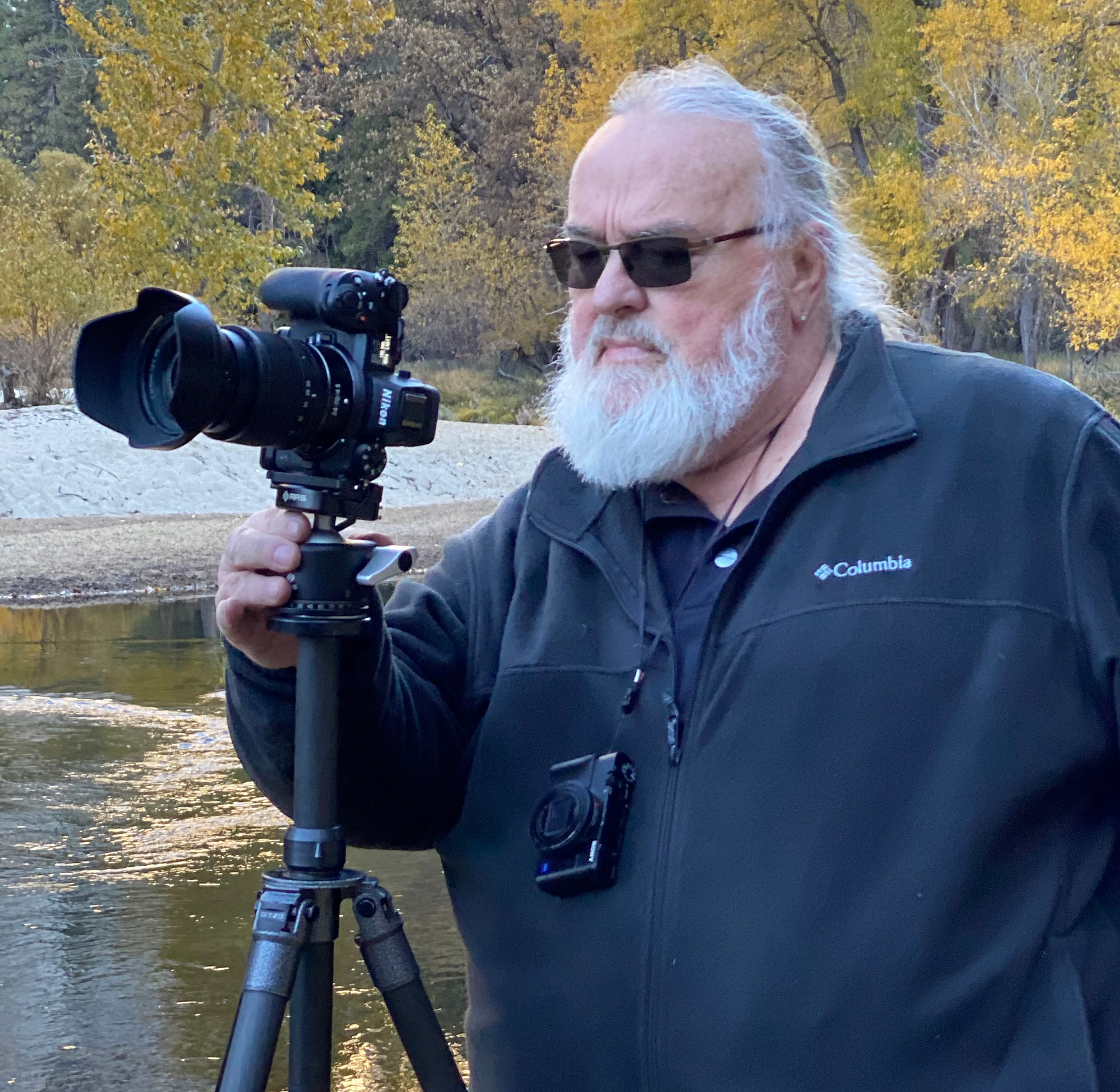 Jeff Schewe with his Sony RX100 vii that is always hanging from his neck