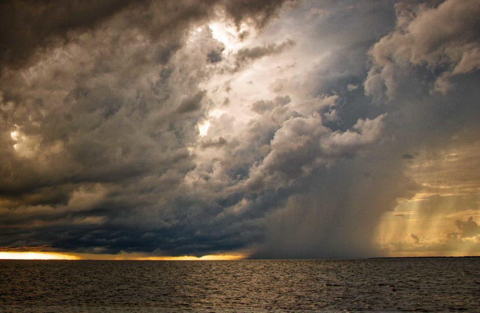 Rain Falls Into The Sea