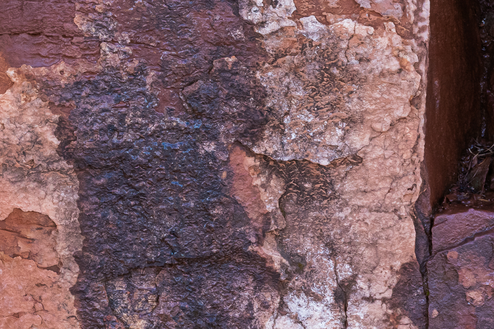 """100% cut C of """"Red Rockface After a Snowfall"""