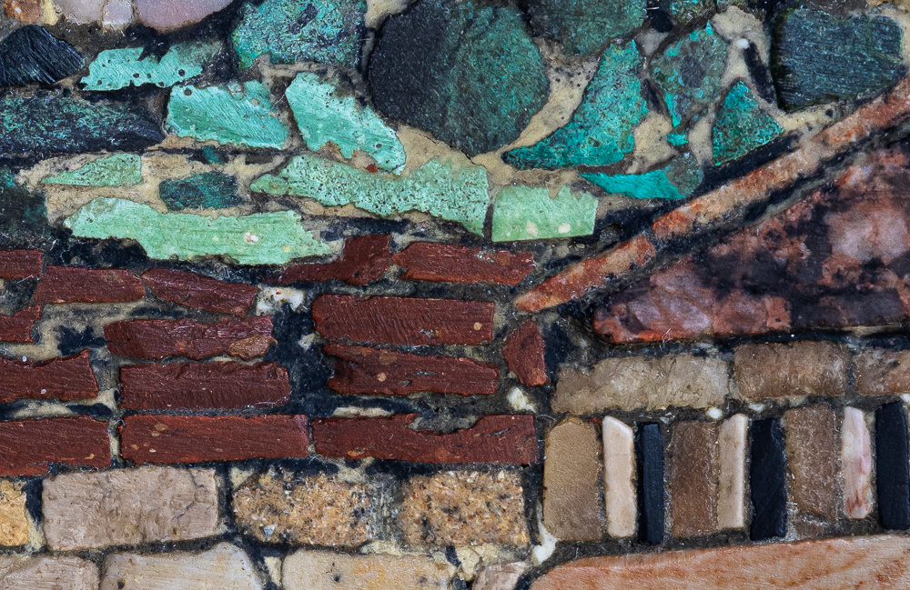 Mosaic, King David Tower & Jerusalem