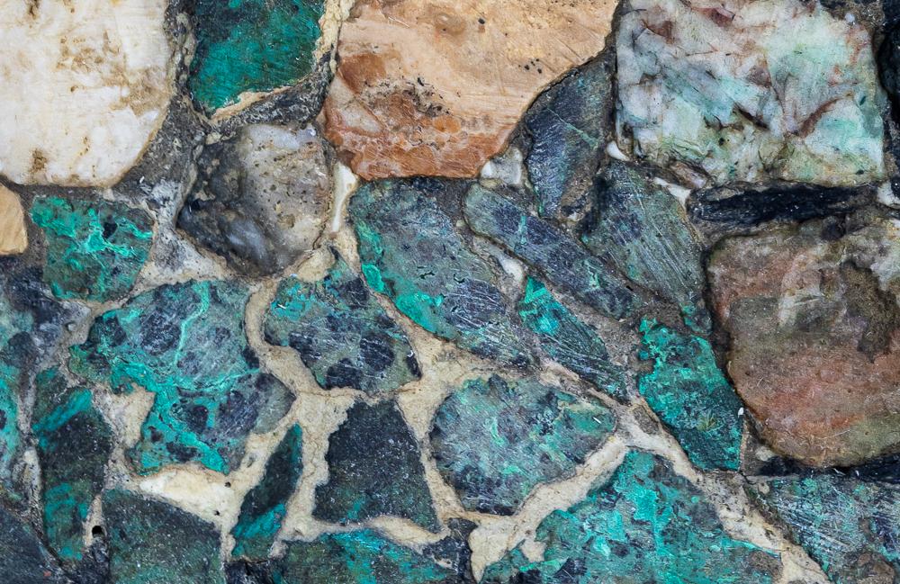 "100% cut C of ""Mosaic, King David Tower & Jerusalem"